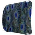 Peacock Feathers Blue Bird Nature Back Support Cushion View3