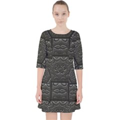 Tile Emboss Luxury Artwork Depth Pocket Dress