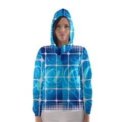 Tile Square Mail Email E Mail At Hooded Wind Breaker (women)