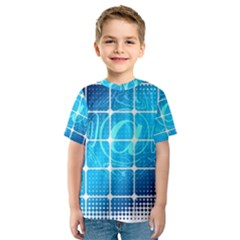Tile Square Mail Email E Mail At Kids  Sport Mesh Tee
