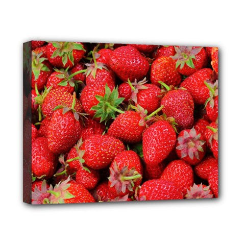 Strawberries Berries Fruit Canvas 10  X 8