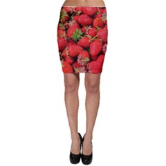 Strawberries Berries Fruit Bodycon Skirt