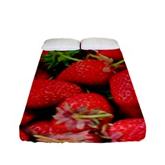 Strawberries Berries Fruit Fitted Sheet (full/ Double Size) by Nexatart