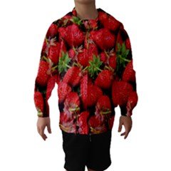 Strawberries Berries Fruit Hooded Wind Breaker (kids)