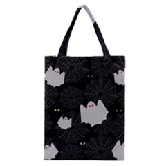 Spider Web And Ghosts Pattern Classic Tote Bag by Valentinaart