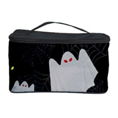 Spider Web And Ghosts Pattern Cosmetic Storage Case by Valentinaart
