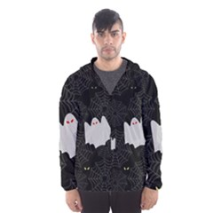 Spider Web And Ghosts Pattern Hooded Wind Breaker (men)