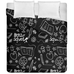 Back To School Duvet Cover Double Side (california King Size) by Valentinaart