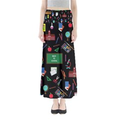 Back To School Full Length Maxi Skirt by Valentinaart