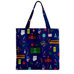 Back To School Zipper Grocery Tote Bag