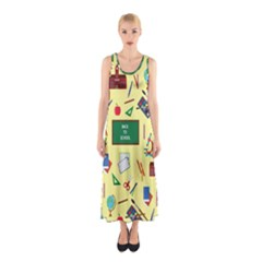 Back To School Sleeveless Maxi Dress by Valentinaart