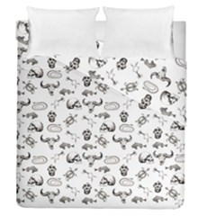 Skeleton Pattern Duvet Cover Double Side (queen Size) by Valentinaart