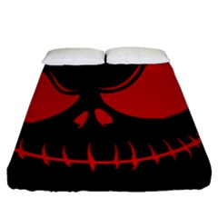 Halloween Fitted Sheet (queen Size) by Valentinaart