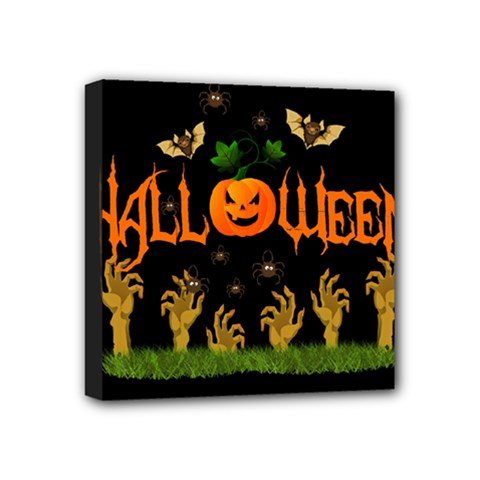 Halloween Mini Canvas 4  X 4  by Valentinaart