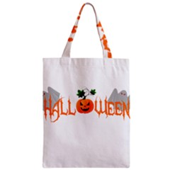 Halloween Zipper Classic Tote Bag by Valentinaart
