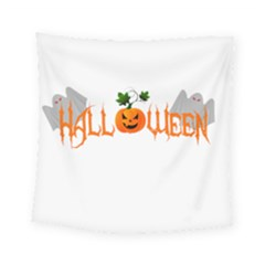 Halloween Square Tapestry (small) by Valentinaart