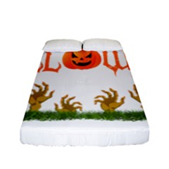 Halloween Fitted Sheet (full/ Double Size) by Valentinaart