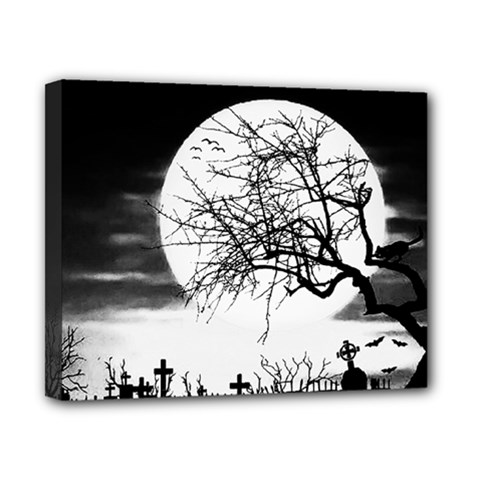 Halloween Landscape Canvas 10  X 8  by Valentinaart