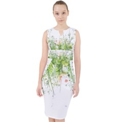 Carrot Flowers Midi Bodycon Dress by DeneWestUK