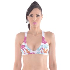 Animals Sea Flower Tropical Crab Plunge Bikini Top by Mariart