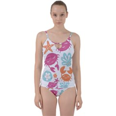 Animals Sea Flower Tropical Crab Cut Out Top Tankini Set by Mariart