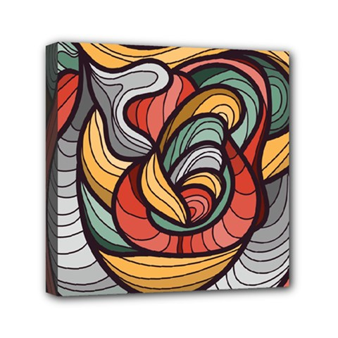 Beautiful Pattern Background Wave Chevron Waves Line Rainbow Art Mini Canvas 6  X 6  by Mariart