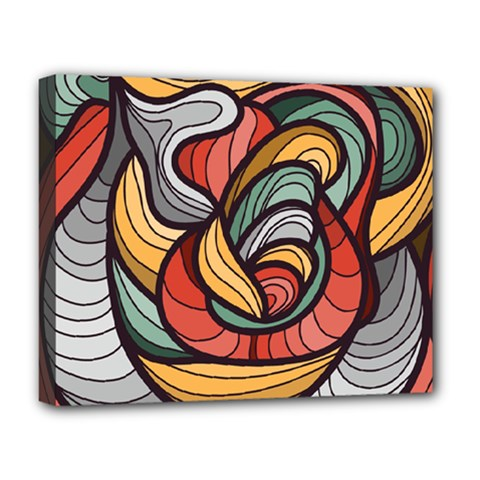 Beautiful Pattern Background Wave Chevron Waves Line Rainbow Art Deluxe Canvas 20  X 16   by Mariart