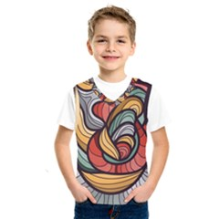 Beautiful Pattern Background Wave Chevron Waves Line Rainbow Art Kids  Sportswear by Mariart