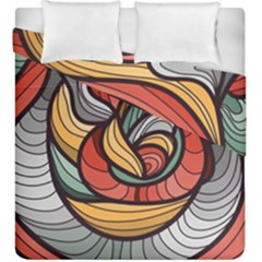 Beautiful Pattern Background Wave Chevron Waves Line Rainbow Art Duvet Cover Double Side (king Size) by Mariart
