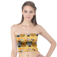 Amfora Leaf Yellow Flower Tube Top by Mariart