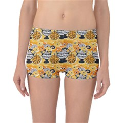 Amfora Leaf Yellow Flower Boyleg Bikini Bottoms
