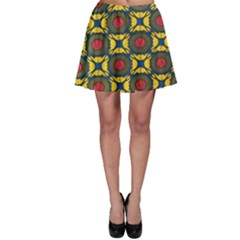 African Textiles Patterns Skater Skirt by Mariart