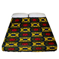 African Textiles Patterns Fitted Sheet (california King Size) by Mariart