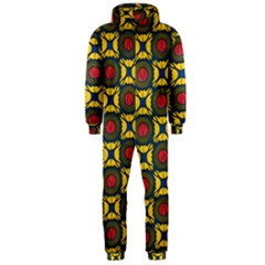 African Textiles Patterns Hooded Jumpsuit (men)  by Mariart
