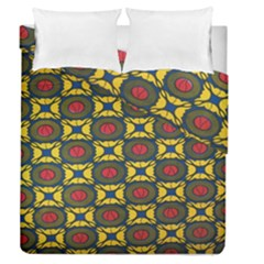African Textiles Patterns Duvet Cover Double Side (queen Size) by Mariart