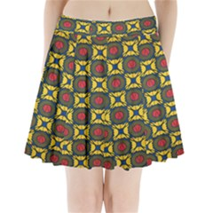 African Textiles Patterns Pleated Mini Skirt by Mariart