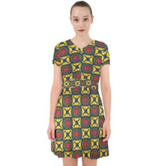 African Textiles Patterns Adorable In Chiffon Dress by Mariart