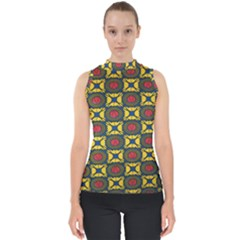 African Textiles Patterns Shell Top by Mariart