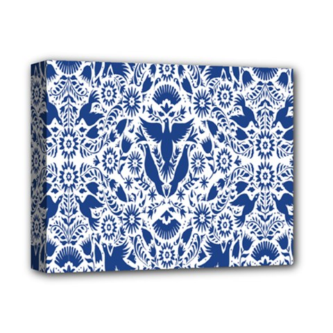 Birds Fish Flowers Floral Star Blue White Sexy Animals Beauty Deluxe Canvas 14  X 11  by Mariart