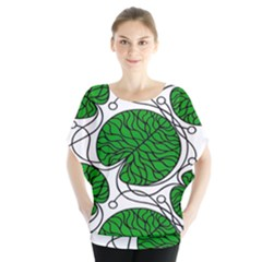 Bottna Fabric Leaf Green Blouse by Mariart