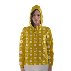 Circle Polka Chevron Orange Pink Spot Dots Hooded Wind Breaker (women)