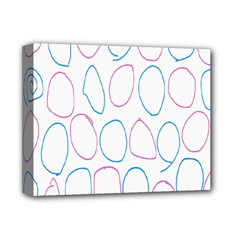 Circles Featured Pink Blue Deluxe Canvas 14  X 11  by Mariart
