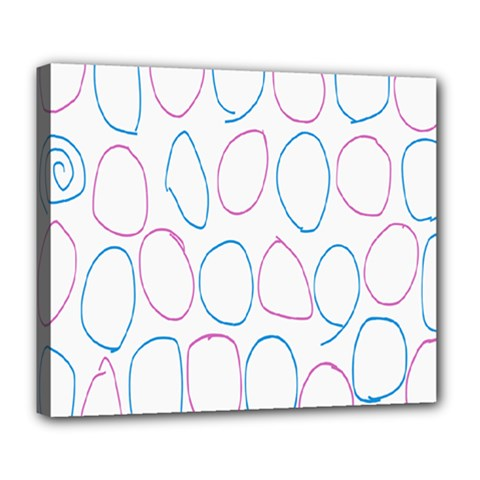 Circles Featured Pink Blue Deluxe Canvas 24  X 20   by Mariart