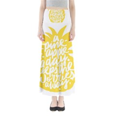 Cute Pineapple Yellow Fruite Full Length Maxi Skirt