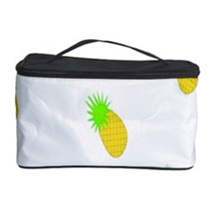 Cute Pineapple Fruite Yellow Green Cosmetic Storage Case by Mariart