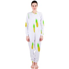 Cute Pineapple Fruite Yellow Green Onepiece Jumpsuit (ladies)