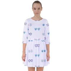 Cute Sexy Funny Sunglasses Kids Pink Blue Smock Dress