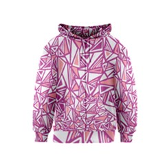 Conversational Triangles Pink White Kids  Zipper Hoodie by Mariart