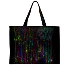 Brain Cell Dendrites Zipper Large Tote Bag by Mariart