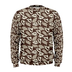 Dried Leaves Grey White Camuflage Summer Men s Sweatshirt by Mariart